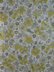 vintage bloemenbehang groen wit