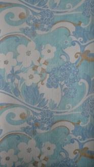 vintage floral wallpaper blue white