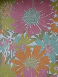 vintage bloemenbehang multicolor