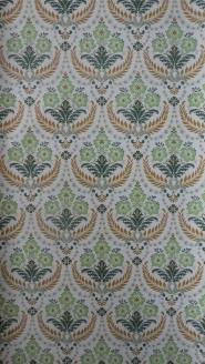 groen bruin medaillon vintage behang