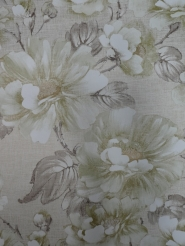 vintage floral wallpaper green brown gold