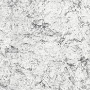 Wit-zwart stenen imitatie behang