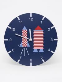 horloge mural fusée